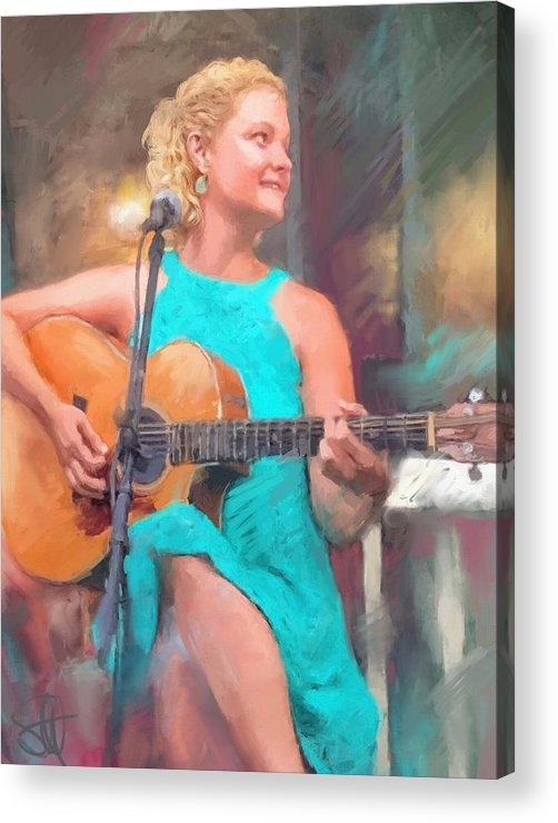 Amy Endrucsin Acrylic Print featuring the digital art Amy by Scott Waters