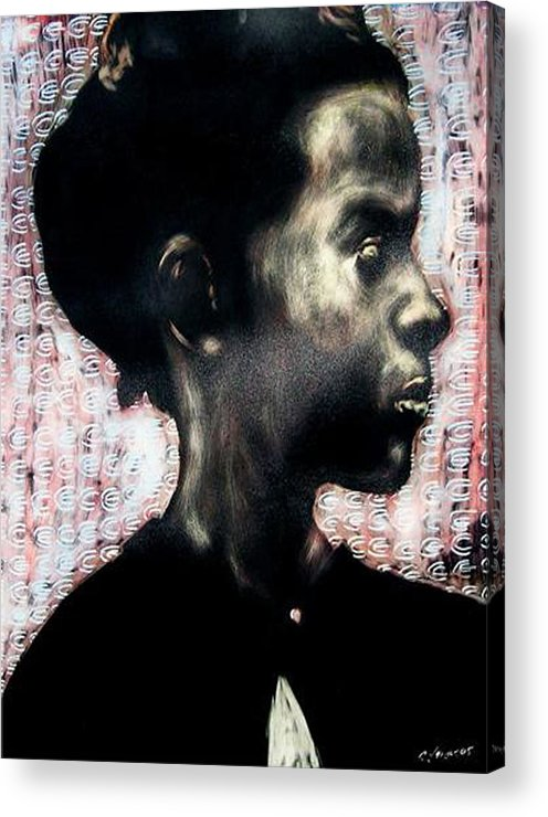 Acrylic Print featuring the mixed media Angel of Mercy by Chester Elmore