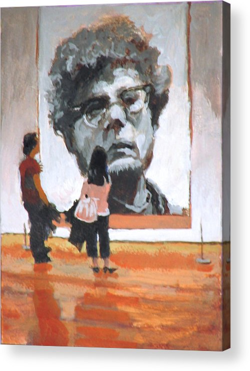 Close Acrylic Print featuring the painting Art Lovers by Robert Bissett