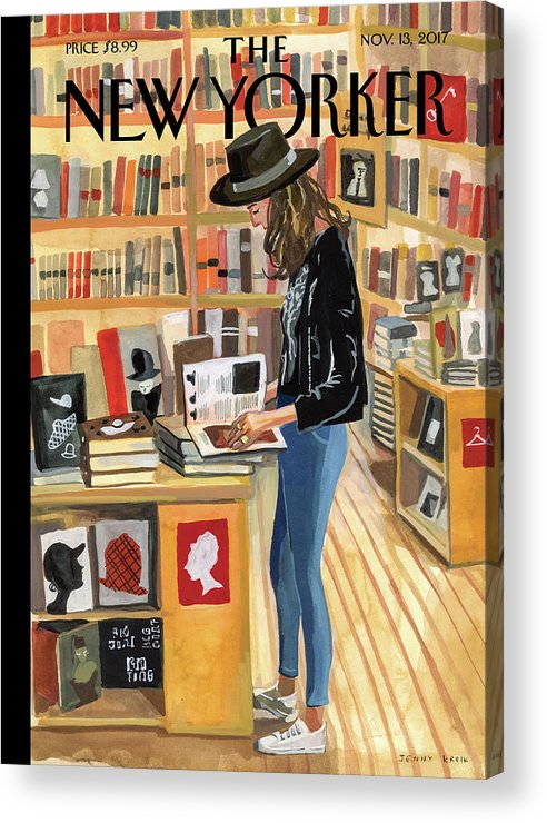 At The Strand Acrylic Print featuring the painting At The Strand by Jenny Kroik