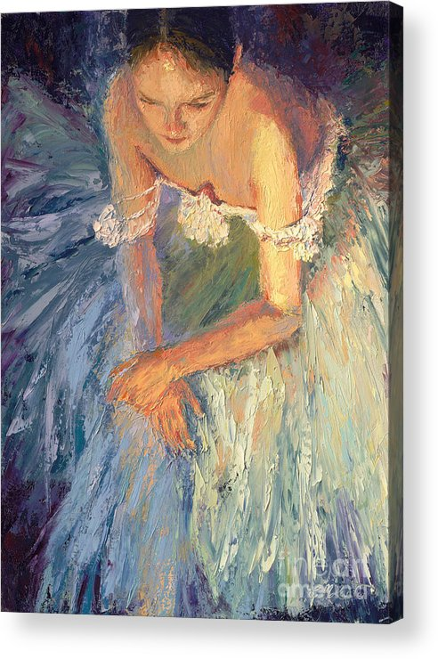 Ballerina (framed) Acrylic Print featuring the painting Ballerina Resting by Colleen Murphy