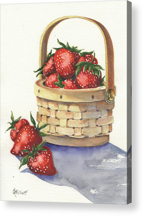 Berry Acrylic Print featuring the painting Berry Nice by Marsha Elliott