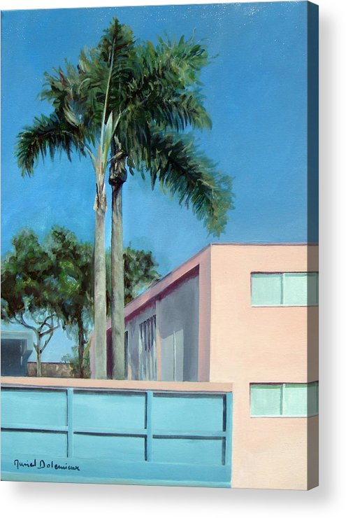 Landscape Painting Acrylic Print featuring the painting Californie 1 by Muriel Dolemieux