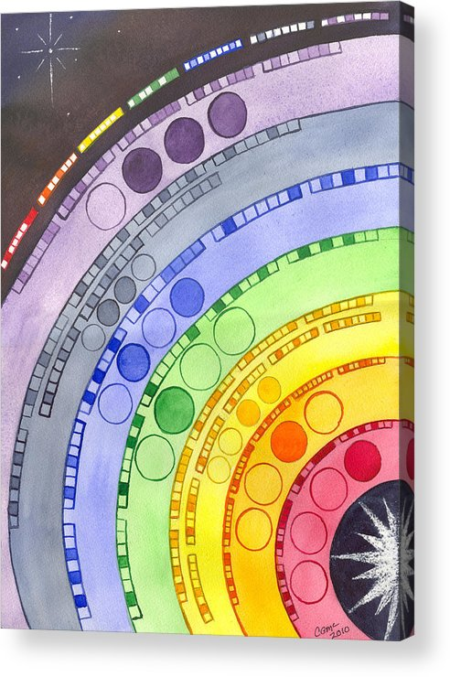 Chakra Acrylic Print featuring the painting Chakras by Catherine G McElroy