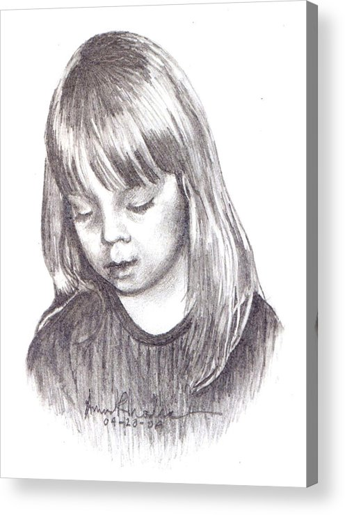 Portrait Acrylic Print featuring the painting Charidy by Anne Rhodes