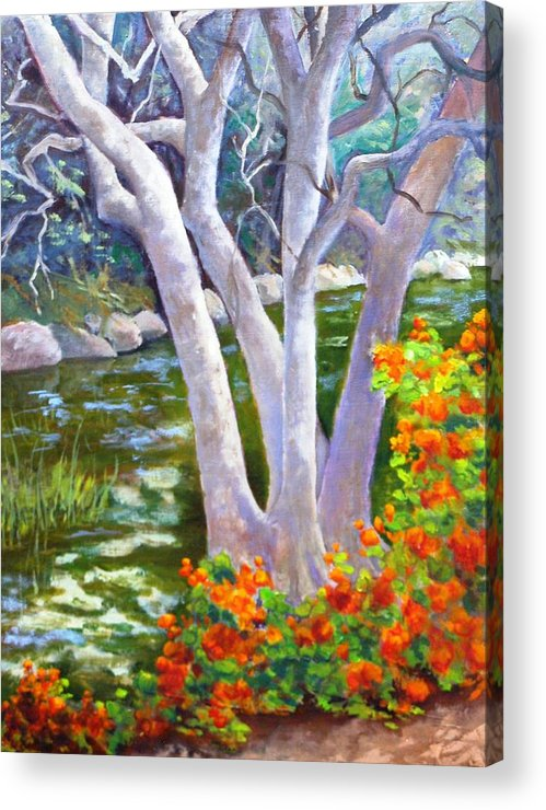 Tree Acrylic Print featuring the painting Creekside by Dorothy Nalls