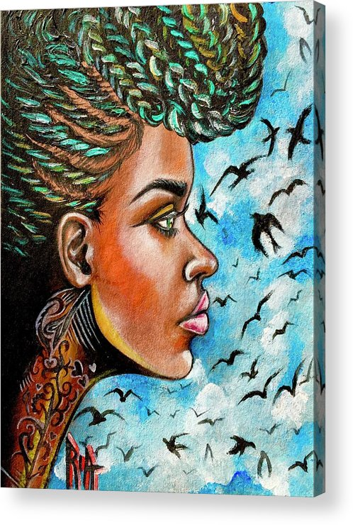 Ria Acrylic Print featuring the painting Crowned Royal by Artist RiA