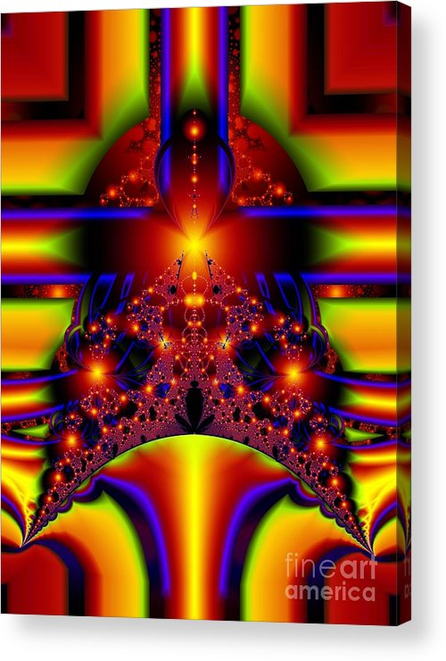 Door Art Acrylic Print featuring the digital art Doorway to the Universe Detail by Ron Bissett