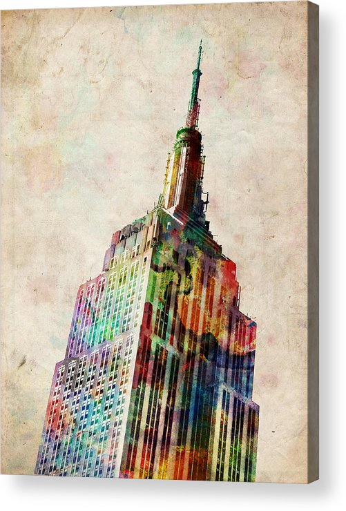 Empire State Building Acrylic Print featuring the digital art Empire State Building by Michael Tompsett