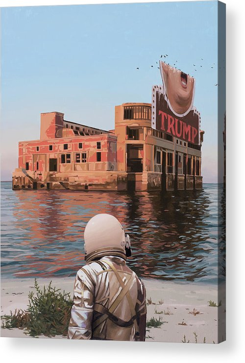 Astronaut Acrylic Print featuring the painting Empty Palace by Scott Listfield