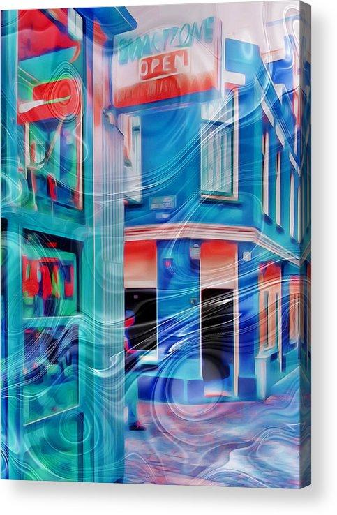 Amsterdam Acrylic Print featuring the digital art Entering Smart Zone Amsterdam by Yury Malkov