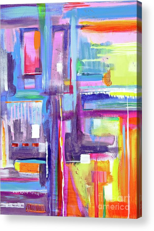 A Scape. New Series Begins Here.and The Title Eyedropper Acrylic Print featuring the painting Eye Dropper by Priscilla Batzell Expressionist Art Studio Gallery