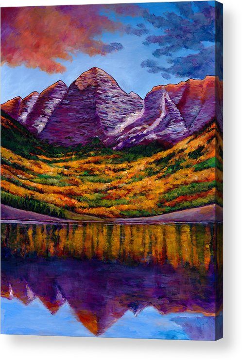 Landscapes Acrylic Print featuring the painting Fall Symphony by Johnathan Harris