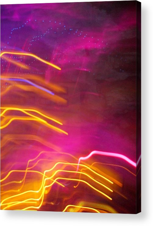 Abstract Acrylic Print featuring the photograph Fingers of Light by Lessandra Grimley