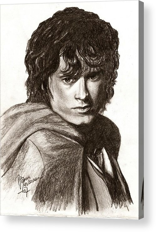 The Lord Of The Rings Acrylic Print featuring the drawing Frodo by Maren Jeskanen