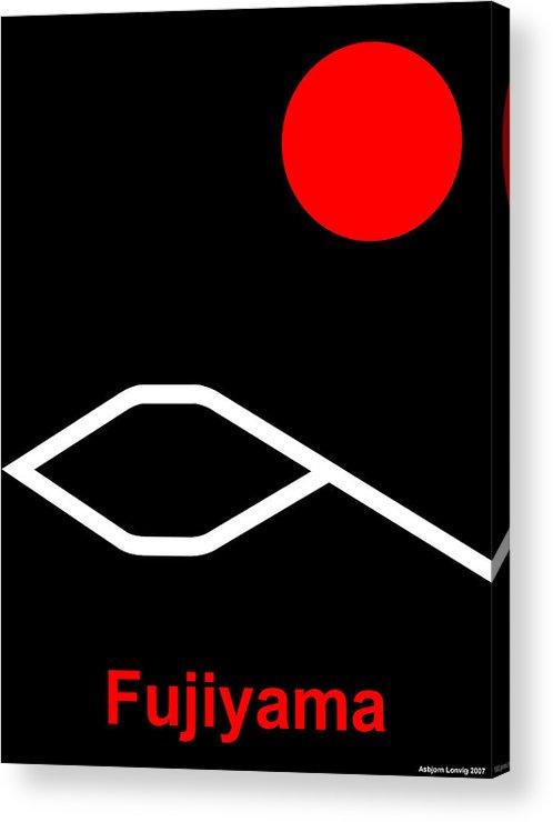 Fuji Acrylic Print featuring the digital art Fujiyama by Asbjorn Lonvig