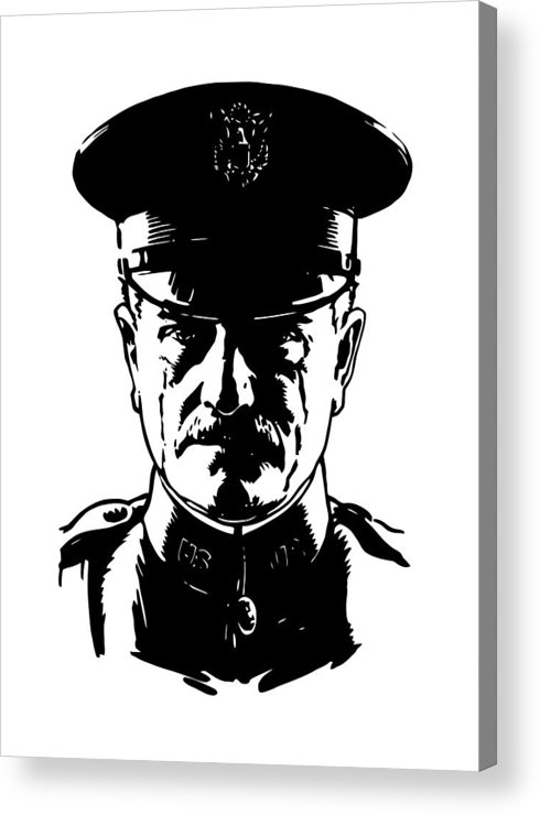 General Pershing Acrylic Print featuring the digital art General John Pershing by War Is Hell Store