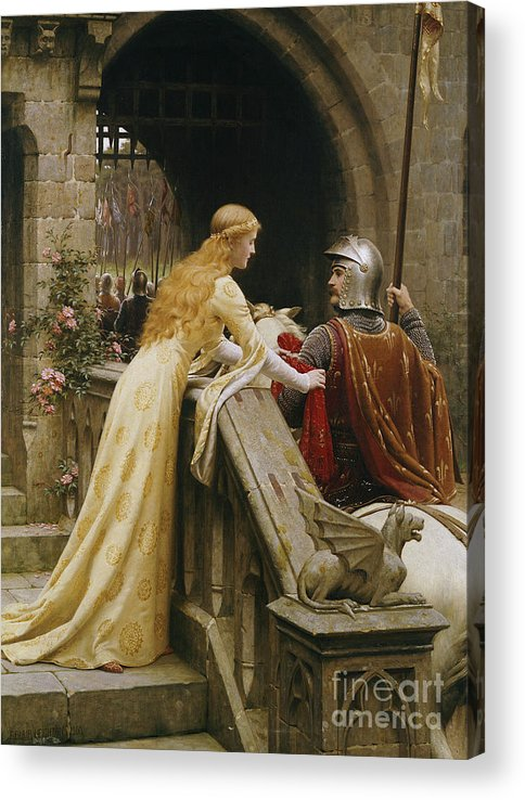 God Speed Acrylic Print featuring the painting God Speed by Edmund Blair Leighton