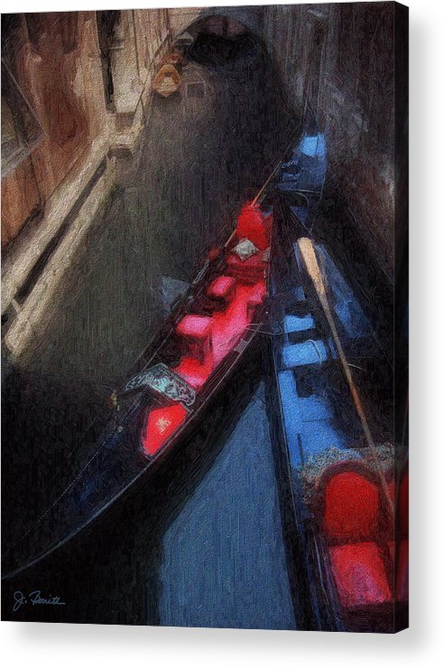 Gondolas Acrylic Print featuring the photograph Gondolas by Joe Bonita