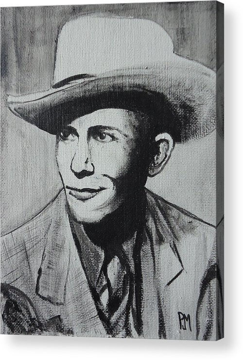 Hank Williams Acrylic Print featuring the painting Hank by Pete Maier