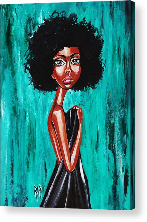 Afro Acrylic Print featuring the photograph If From Past Sins Ive Been Washed Clean-why Do I Feel So Dirty by Artist RiA