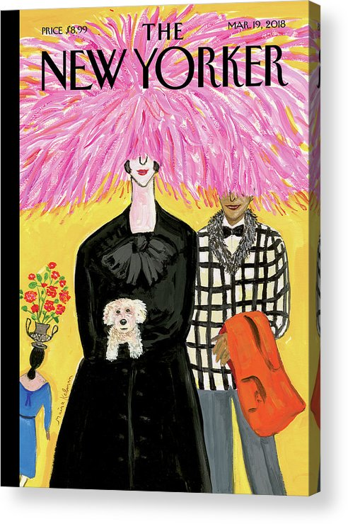 In Full Bloom Acrylic Print featuring the painting In Full Bloom by Maira Kalman
