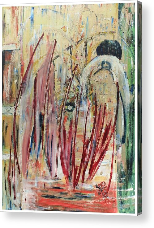 Figurative Acrylic Print featuring the painting Japan Town by Peggy Blood