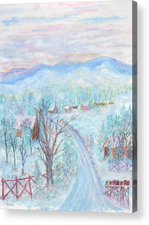 Winter Acrylic Print featuring the painting Joy of Winter by Ben Kiger