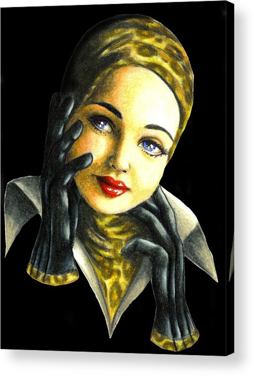 Classic Acrylic Print featuring the drawing Kathrine by Scarlett Royal