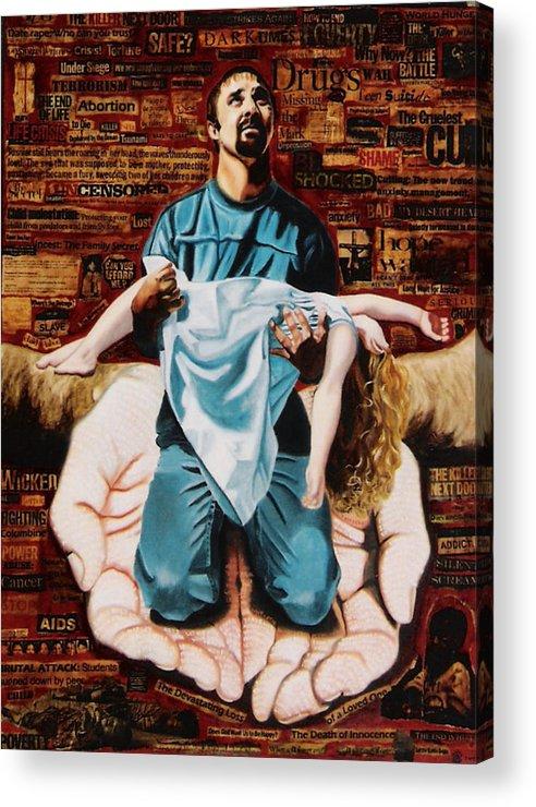 Lamentations Acrylic Print featuring the painting Lamentations by Teresa Carter