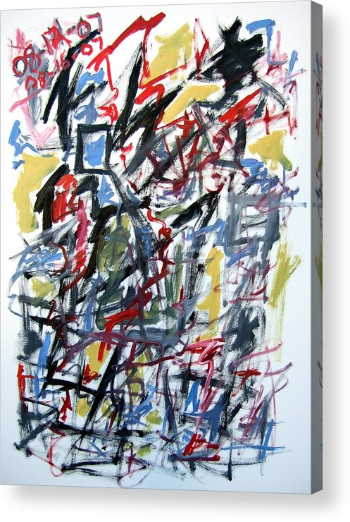 Abstract Acrylic Print featuring the painting Large Abstract No. 5 by Michael Henderson