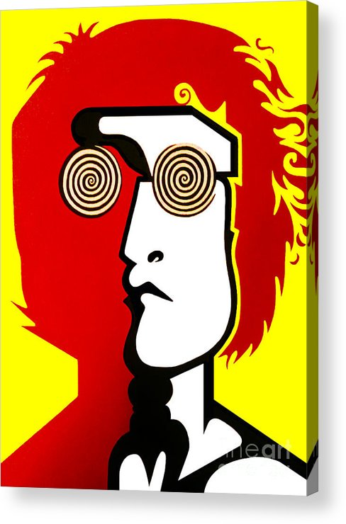 Lennon Acrylic Print featuring the painting Lennon RYB by Kenny Cannon