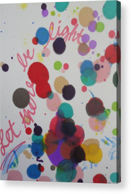 Light Acrylic Print featuring the painting Let There Be Light by Vonda Drees