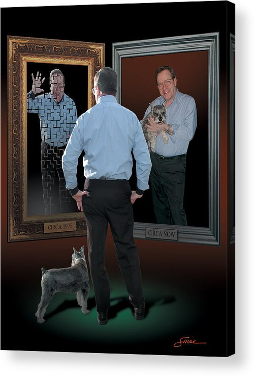 Harold Shull Acrylic Print featuring the digital art Man In The Mirror by Harold Shull
