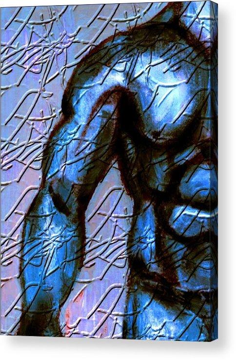 Figure Acrylic Print featuring the mixed media Man of steel by Joseph Ferguson