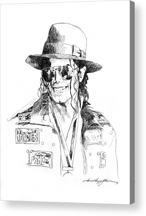Michael Jackson Acrylic Print featuring the drawing Michael's Jacket by David Lloyd Glover