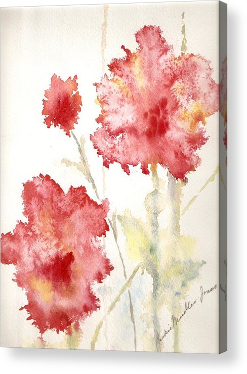 Flowers Acrylic Print featuring the painting My Magic Garden by Jackie Mueller-Jones