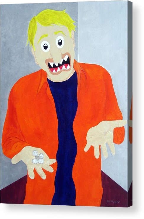 Funism Acrylic Print featuring the painting New Middle Class by Sal Marino