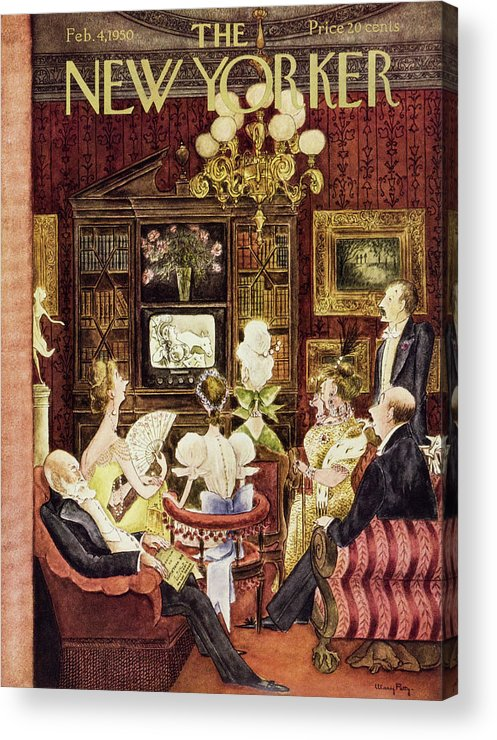 Aristocrats Acrylic Print featuring the painting New Yorker February 4 1950 by Mary Petty