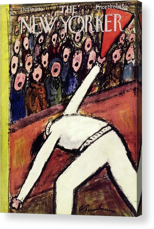 Sports Acrylic Print featuring the painting New Yorker October 14 1950 by Abe Birnbaum