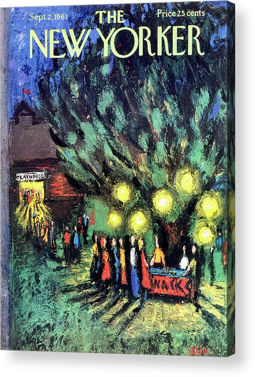 Playhouse Acrylic Print featuring the drawing New Yorker September 2 1961 by Robert Kraus