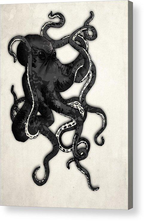 Sea Acrylic Print featuring the digital art Octopus by Nicklas Gustafsson