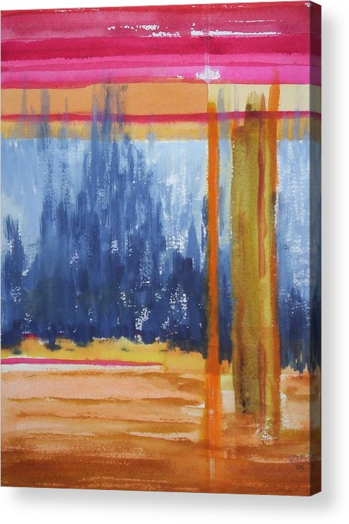 Landscape Acrylic Print featuring the painting Opening by Suzanne Udell Levinger