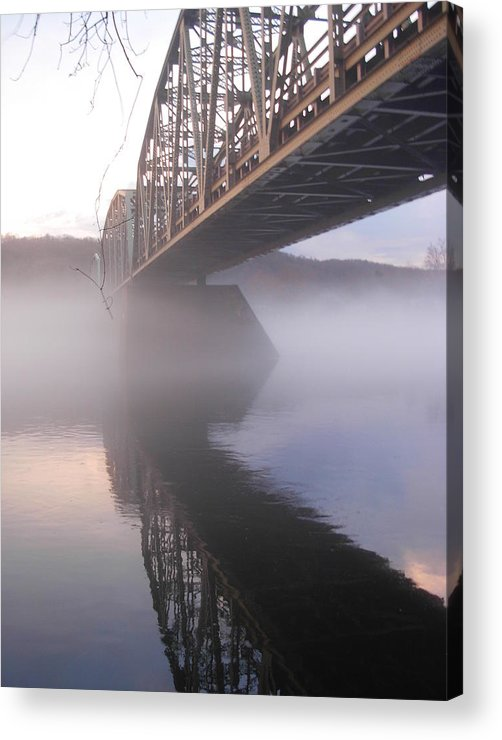 Bridge Acrylic Print featuring the photograph Over The Water by Amanda Vouglas