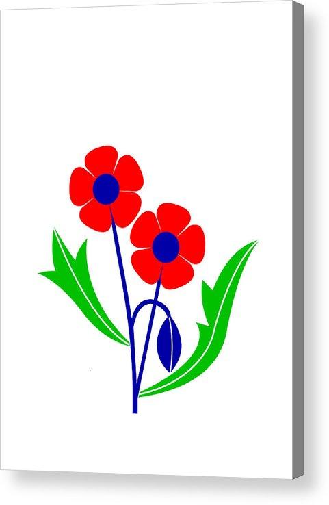 Poppy Acrylic Print featuring the digital art Poppy by Asbjorn Lonvig