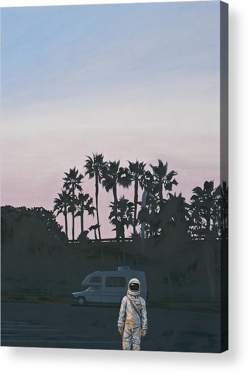 Astronaut Acrylic Print featuring the painting RV Dusk by Scott Listfield