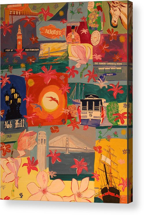 Acrylic Print featuring the painting San Francisco by Biagio Civale