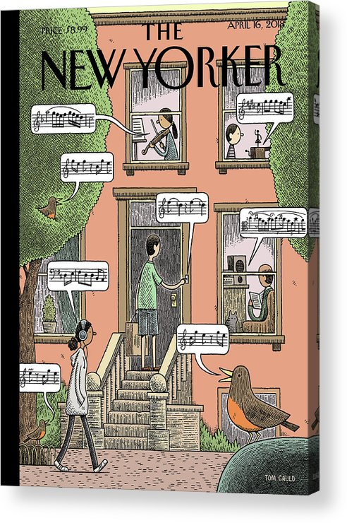 Soundtrack To Spring Acrylic Print featuring the painting Soundtrack to Spring by Tom Gauld