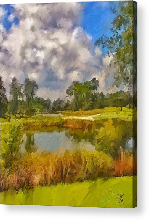 Florida Acrylic Print featuring the digital art Storm to the West by Scott Waters