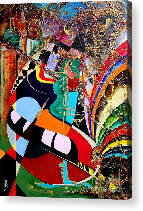 Farzali Babekhan Acrylic Print featuring the painting Suspended Memories by Farzali Babekhan